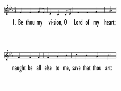 BE THOU MY VISION - Lead line-ppt
