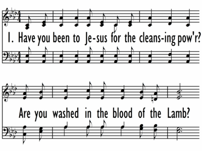 ARE YOU WASHED IN THE BLOOD?-ppt