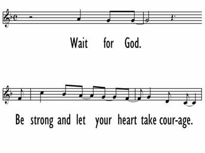 WAIT FOR GOD - Lead Line-ppt