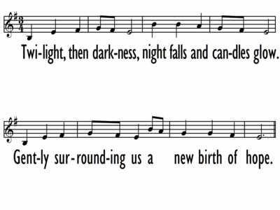 ADVENT CHANT - Lead Line-ppt