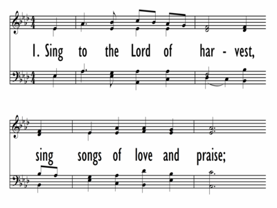 SING TO THE LORD OF HARVEST-ppt