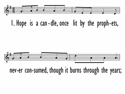HOPE IS A CANDLE - Lead Line-ppt