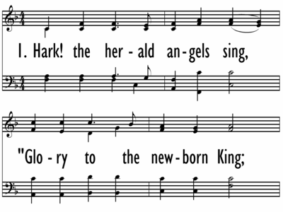HARK! THE HERALD ANGELS SING - Large Format-ppt