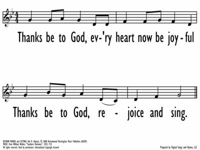 THANKS BE TO GOD - refrain-ppt