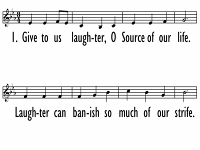 GIVE TO US LAUGHTER - Lead Line-ppt