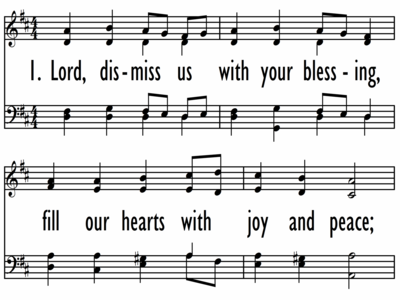 LORD, DISMISS US WITH YOUR BLESSING-ppt