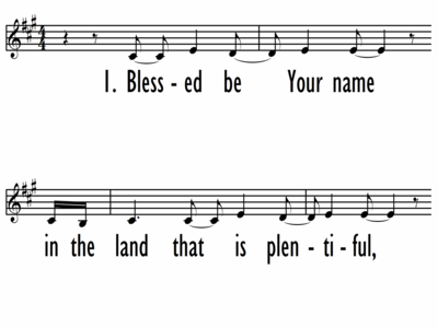 BLESSED BE YOUR NAME - Lead Line-ppt