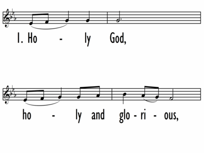 HOLY GOD, HOLY AND GLORIOUS - Lead Line-ppt
