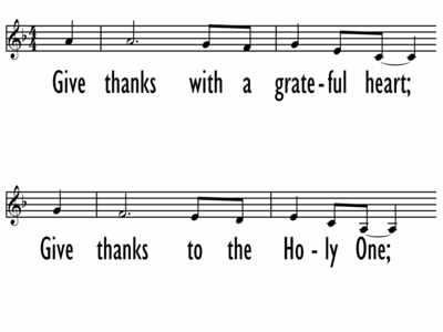 GIVE THANKS - Lead Line-ppt