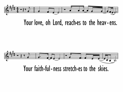 YOUR LOVE, OH LORD - Lead Line-ppt