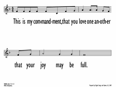 THIS IS MY COMMANDMENT - Lead Line-ppt