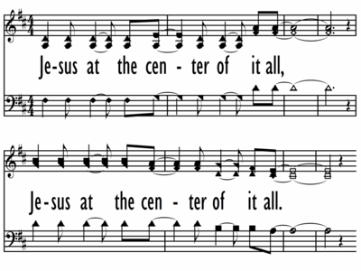 JESUS AT THE CENTER - SHAPED NOTES-ppt