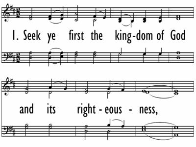 SEEK YE FIRST THE KINGDOM OF GOD - W/O Descant-ppt