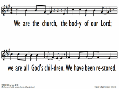 THE CHURCH SONG-ppt