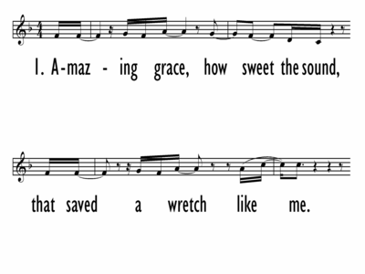 AMAZING GRACE (MY CHAINS ARE GONE) - Lead Line-ppt