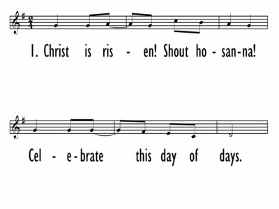 CHRIST IS RISEN! SHOUT HOSANNA-ppt