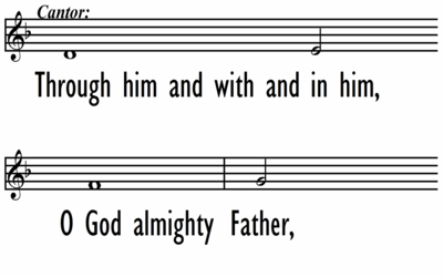 MASS OF WONDROUS LOVE - DOXOLOGY AND AMEN - Lead Line - Large Font -  Widescreen