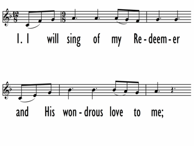 I WILL SING OF MY REDEEMER - Lead Line-ppt