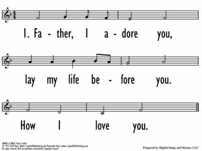 FATHER, I ADORE YOU - Lead Line-ppt