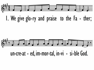 WE GIVE GLORY (AWESOME TRINITY) - Lead Line-ppt