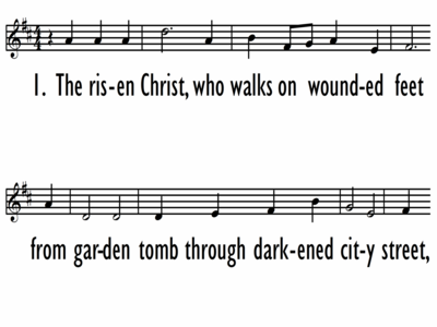 THE RISEN CHRIST - Lead Line-ppt