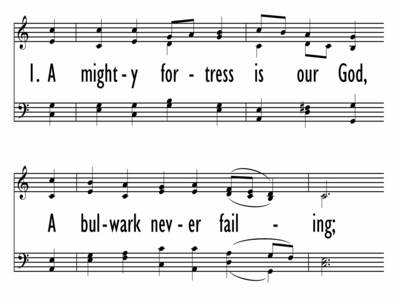 A MIGHTY FORTRESS IS OUR GOD w/ opt last st and opt choral ending-ppt