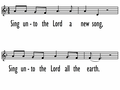 SING UNTO THE LORD - Lead Line-ppt