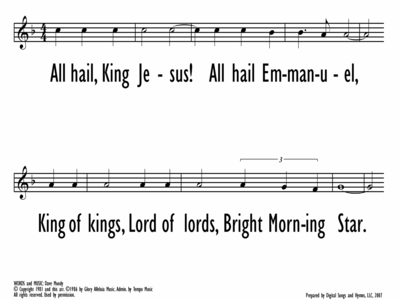 ALL HAIL KING JESUS - Lead Line-ppt