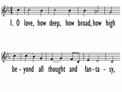 O LOVE, HOW DEEP, HOW BROAD - Lead Line-ppt