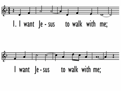 I WANT JESUS TO WALK WITH ME - Lead Line-ppt