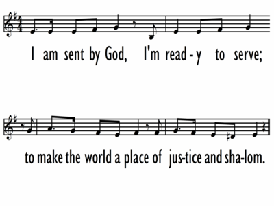I AM SENT BY GOD - Lead Line-ppt