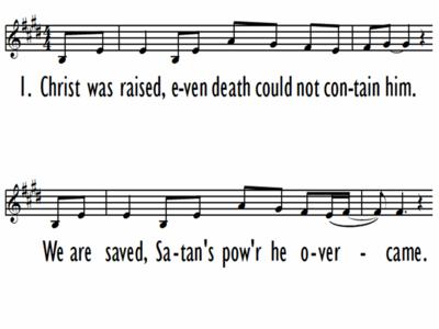 CHRIST WAS RAISED - Lead Line-ppt