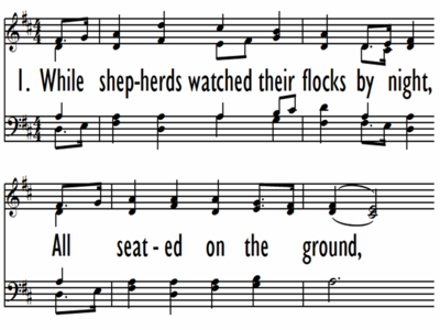 WHILE SHEPHERDS WATCHED THEIR FLOCKS BY NIGHT-ppt