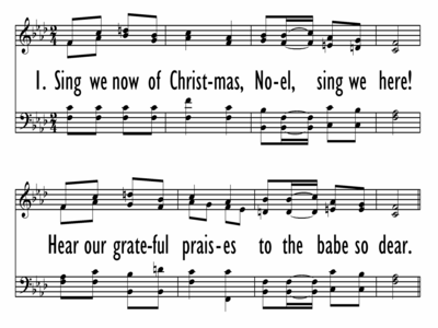 SING WE NOW OF CHRISTMAS-ppt