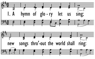 A HYMN OF GLORY LET US SING-ppt