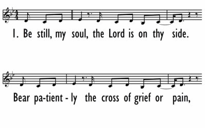 BE STILL MY SOUL (IN YOU I REST) - Lead Line-ppt