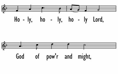 HOLY COMMUNION - Setting 3 - Holy, Holy, Holy