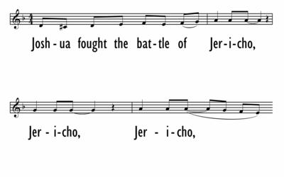 JOSHUA FOUGHT THE BATTLE OF JERICHO - Lead Line-ppt