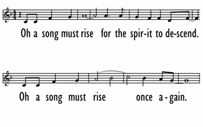 OH A SONG MUST RISE - Lead Line-ppt