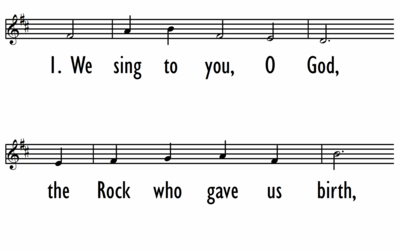 WE SING TO YOU, O GOD - Lead Line-ppt