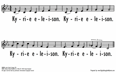 KYRIE ELEISON / LORD, HAVE MERCY - Lead Line