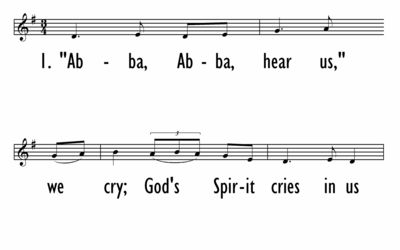 ABBA, ABBA, HEAR US, WE CRY - Lead Line-ppt