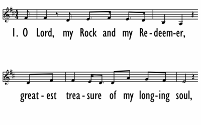 O LORD, MY ROCK AND MY REDEEMER - Lead Line-ppt