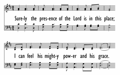 SURELY THE PRESENCE OF THE LORD-ppt