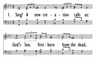 SING A NEW CREATION - Lead Line