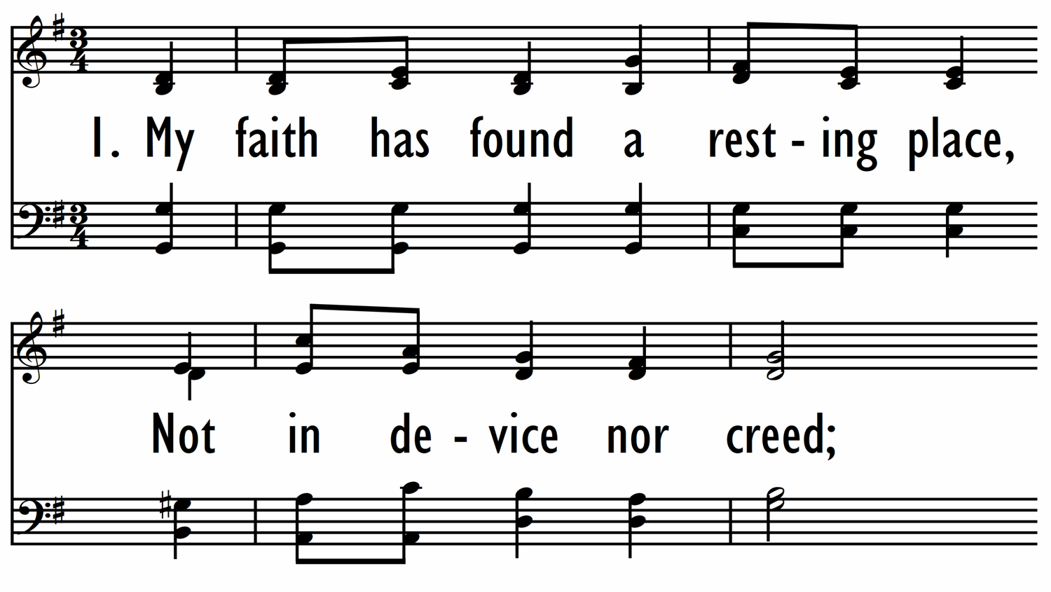 MY FAITH HAS FOUND A RESTING PLACE-ppt