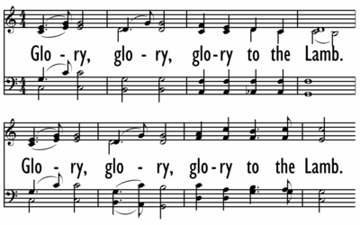 GLORY TO THE LAMB-ppt