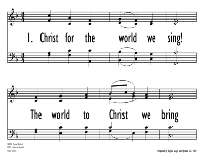 CHRIST FOR THE WORLD WE SING!-ppt