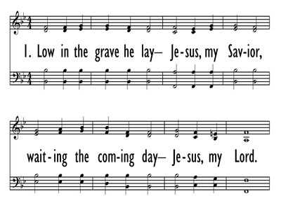 UP FROM THE GRAVE HE AROSE-ppt