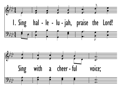 SING HALLELUJAH, PRAISE THE LORD!-ppt
